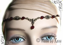 Charger l'image dans la galerie, Elfen Celtic Tiara Necklace Circlet Clear Fairy Wedding Bronze Choose your Beads Colors - korrigane
