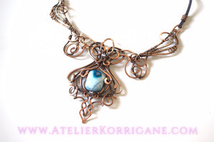 Collier Agate Elfique