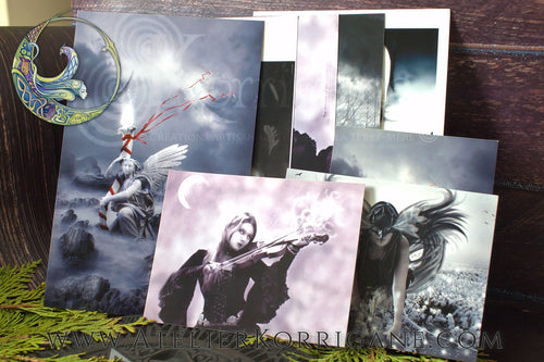 Dark Visions - Set de Cartes Postales et Aimants Uniques