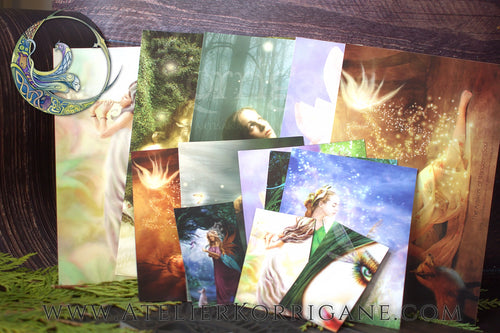Fantasy Dreams - Set de Cartes Postales et Aimants Uniques