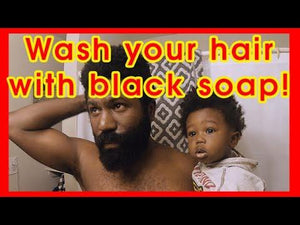 BLACK SOAP SHAMPOO FOR NATURAL HAIR How to PROPERLY wash your hair using RAW AFRICAN BLACK SOAP