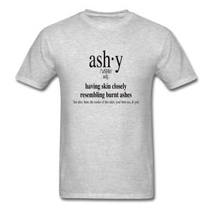 Ashy Definition (black) - Unisex T-Shirt - heather gray