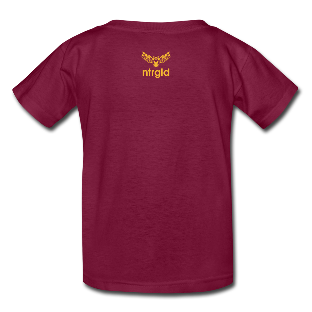 Kids' T-Shirt You Smell Like Outside - Kids' T-Shirt - Neter Gold - burgundy / S - NTRGLD
