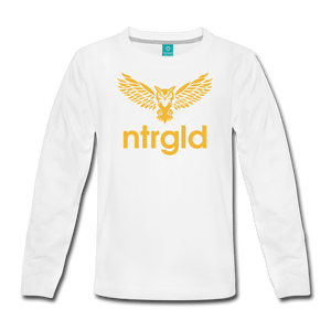 NEBU OWL - Kids' Premium Long Sleeve T-Shirt - Neter Gold
