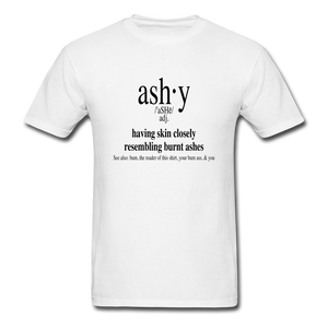 Ashy Definition (black) - Unisex T-Shirt - white