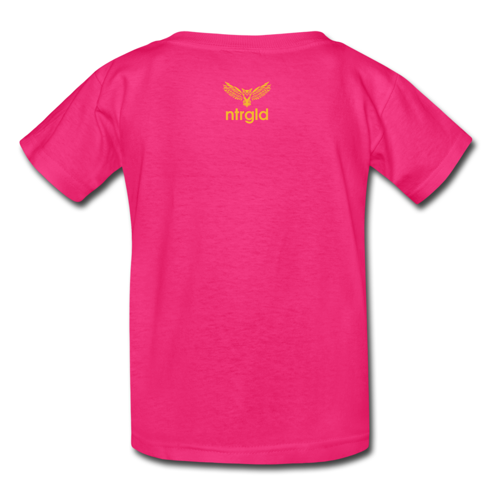Kids' T-Shirt You Smell Like Outside - Kids' T-Shirt - Neter Gold - fuchsia / S - NTRGLD