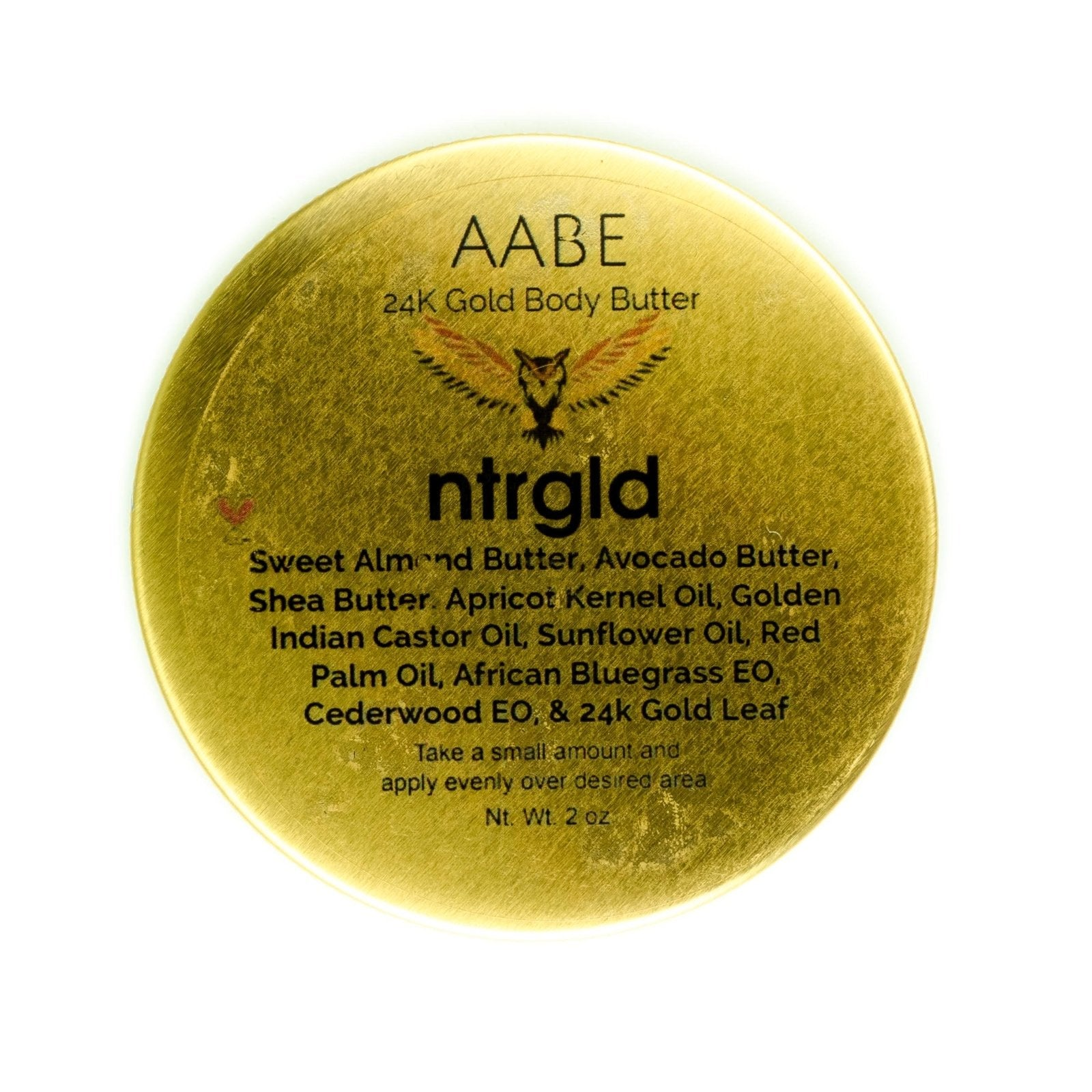 AABE - 24k Gold Hair & Body Butter (Limited Edition) - Neter Gold - NTRGLD - NETER GOLD - All natural body care products designed to increase your natural godly glow. - hair growth - eczema - dry skin