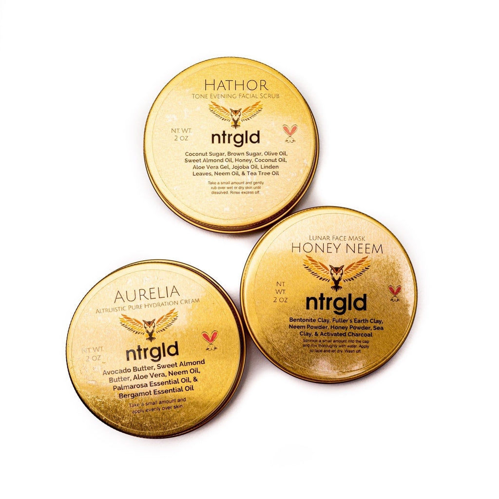 Acne Relief Care Package - Neter Gold - NTRGLD - NETER GOLD - All natural body care products designed to increase your natural godly glow. - hair growth - eczema - dry skin