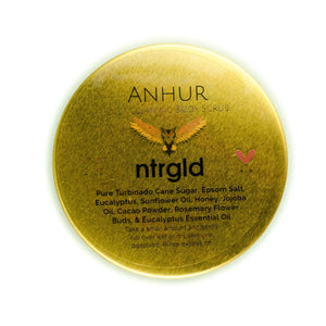 Anhur - Deep Cleaning Body Scrub - Neter Gold - NTRGLD - NETER GOLD - All natural body care products designed to increase your natural godly glow. - hair growth - eczema - dry skin