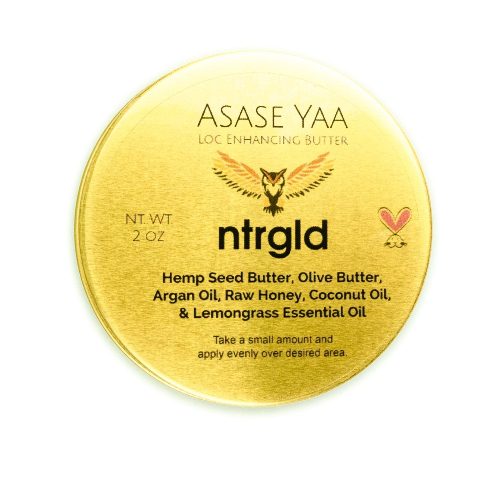 Asase Yaa - Loc Enhancing Butter - Neter Gold - NTRGLD - NETER GOLD - All natural body care products designed to increase your natural godly glow. - hair growth - eczema - dry skin