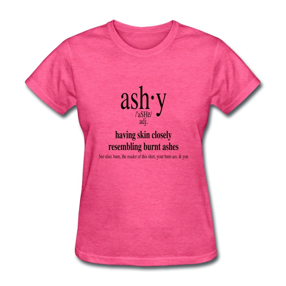 Women's T-Shirt Ashy Definition (black) - Women's T-Shirt - Neter Gold