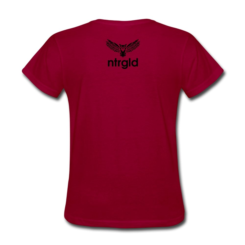 Women's T-Shirt Ashy Definition (black) - Women's T-Shirt - Neter Gold dark red / S