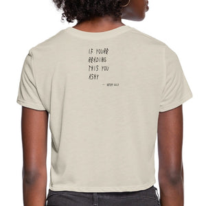 Women's Cropped T-Shirt Ashy Is What Ashy Does - Women's Cropped T-Shirt - Neter Gold - NTRGLD
