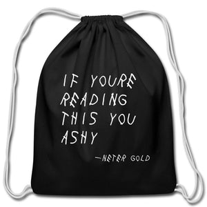 Ashy Readings - Cotton Drawstring Bag - Neter Gold - NTRGLD - NETER GOLD - All natural body care products designed to increase your natural godly glow. - hair growth - eczema - dry skin