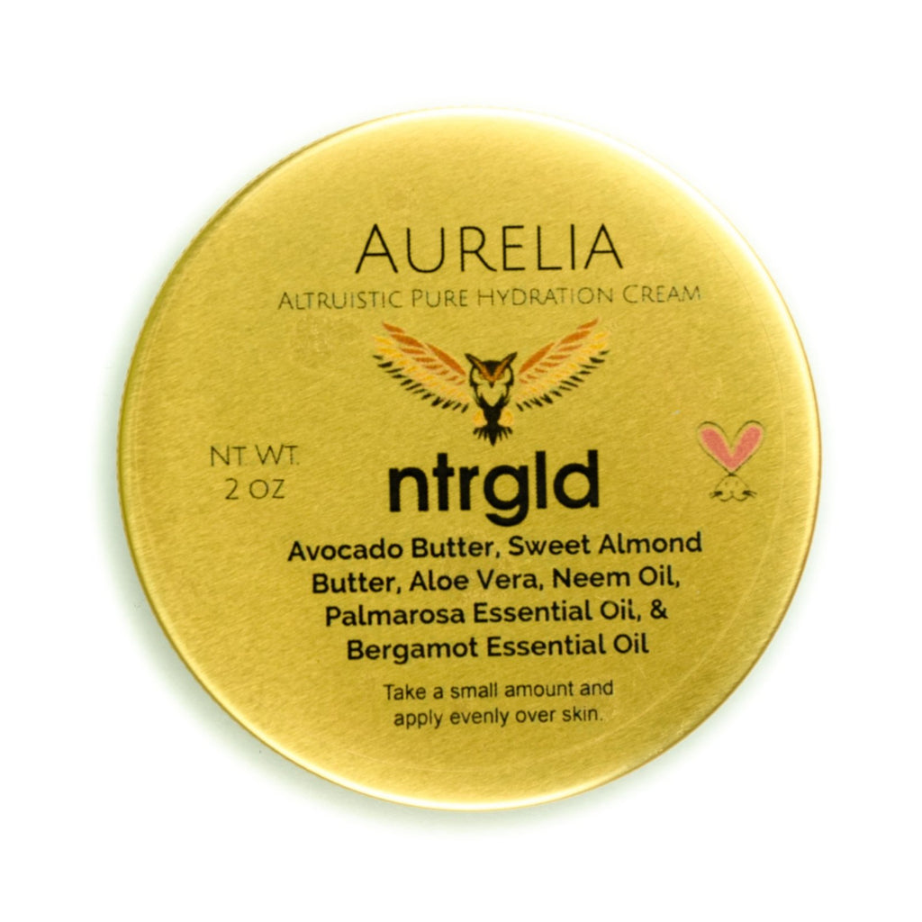 Aurelia - Pure Hydration Cream - Neter Gold - NTRGLD - NETER GOLD - All natural body care products designed to increase your natural godly glow. - hair growth - eczema - dry skin