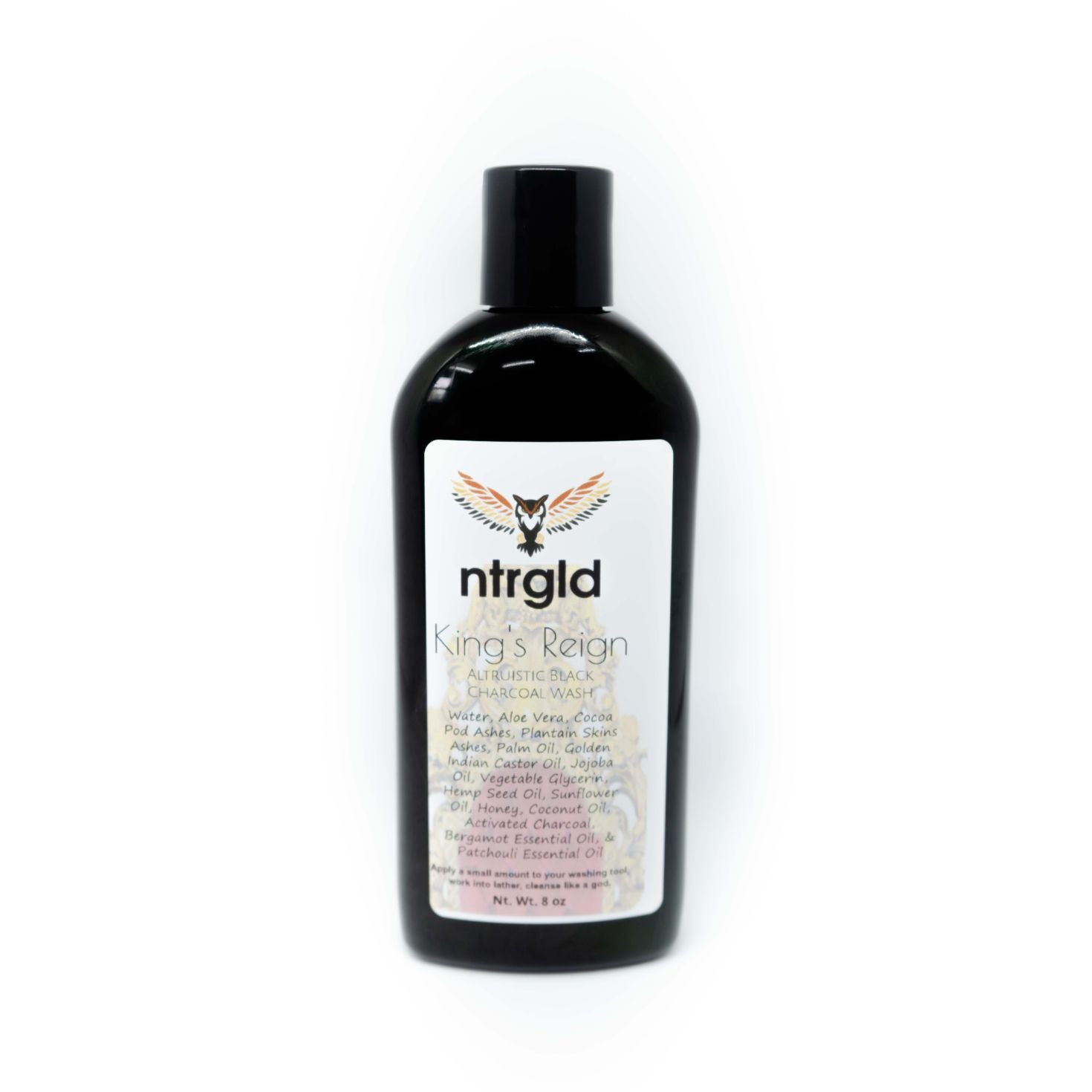 Liquid Black Hand, Body, & Face Soap Wash - Neter Gold - NTRGLD