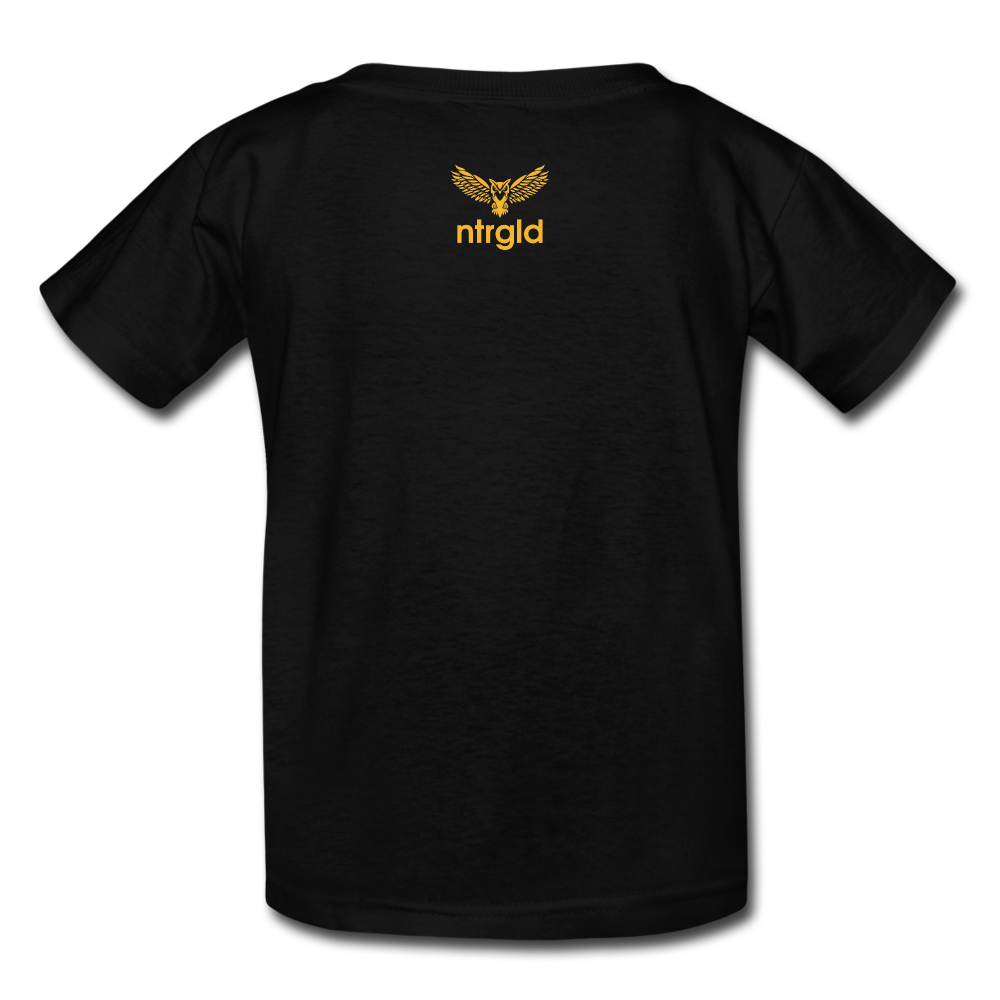 Kids' T-Shirt You Smell Like Outside - Kids' T-Shirt - Neter Gold - black / S - NTRGLD
