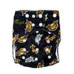Cloth Baby Diaper w/ Removable Charcoal Bamboo Insert - Neter Gold ALTRUISM