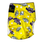 Cloth Baby Diaper w/ Removable Charcoal Bamboo Insert - Neter Gold STRENGTH
