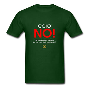 Men's T-Shirt CoroNO! - GTFO - T-Shirt - Neter Gold - forest green / S - NTRGLD