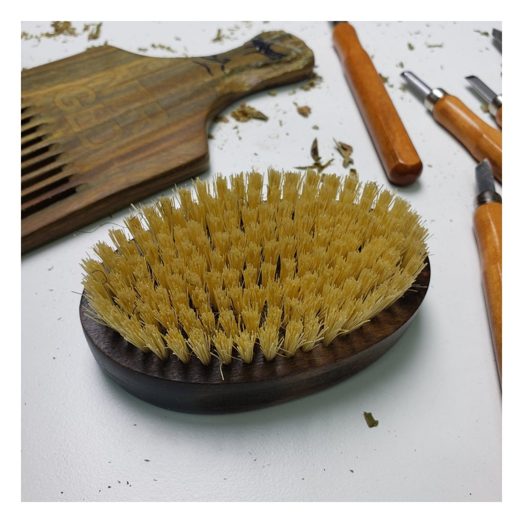 DEFECT!! - No-Kill Hair Brush - Halal | Kosher | Vegan - Neter Gold - NTRGLD