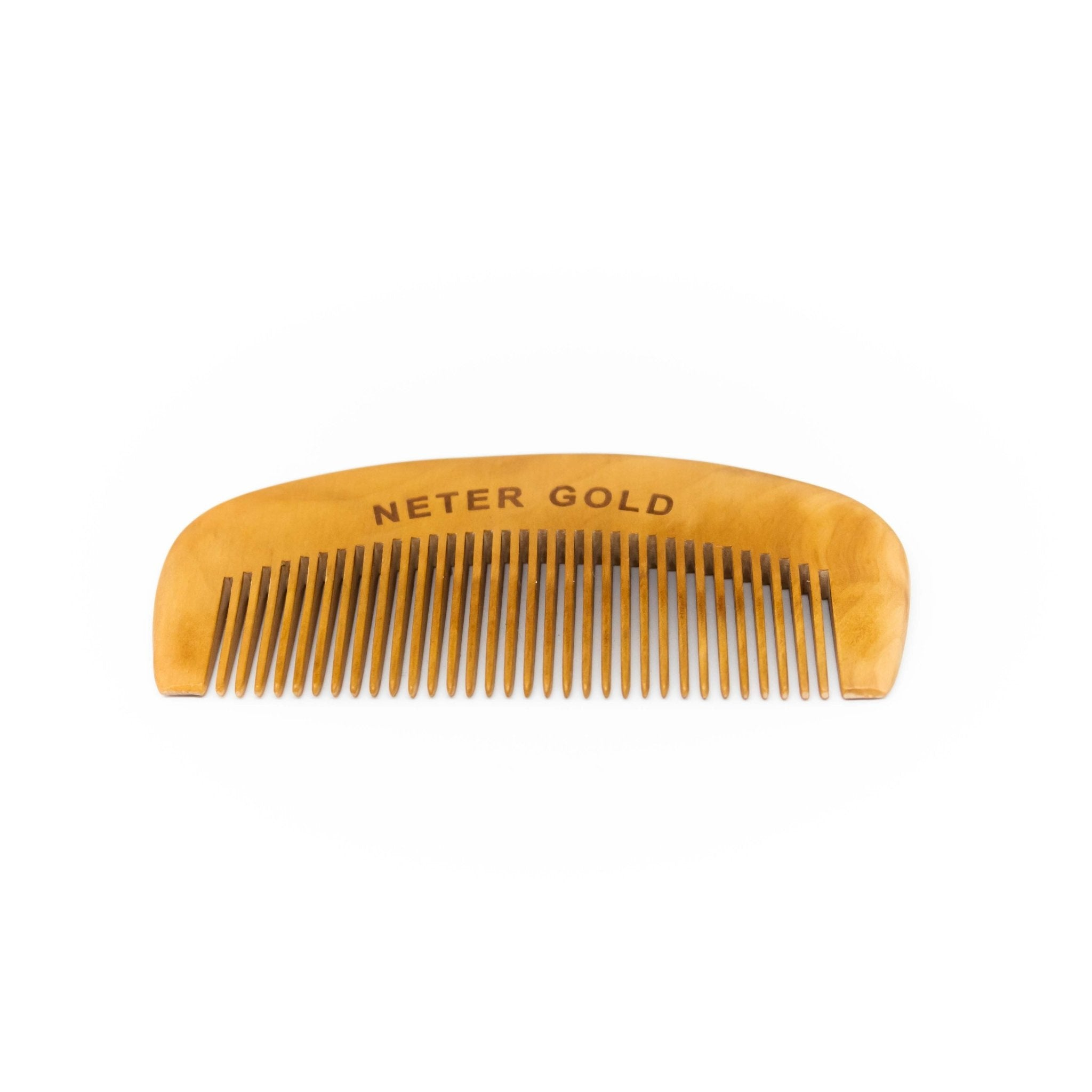 Detangling Beard Comb - Neter Gold - NTRGLD - NETER GOLD - All natural body care products designed to increase your natural godly glow. - hair growth - eczema - dry skin