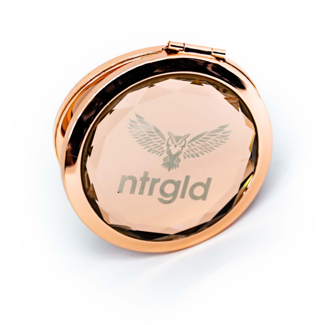 Dual Crystal Pocket Mirror - Neter Gold - NTRGLD - NETER GOLD - All natural body care products designed to increase your natural godly glow. - hair growth - eczema - dry skin