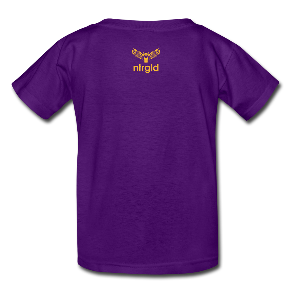 Kids' T-Shirt You Smell Like Outside - Kids' T-Shirt - Neter Gold - purple / S - NTRGLD