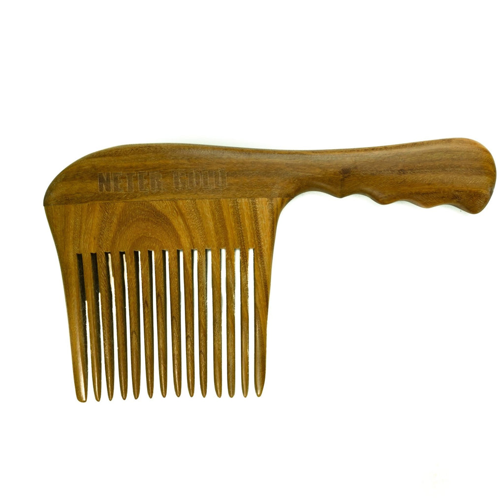 Epic Jumbo Wooden Comb - Neter Gold - NTRGLD - NETER GOLD - All natural body care products designed to increase your natural godly glow. - hair growth - eczema - dry skin