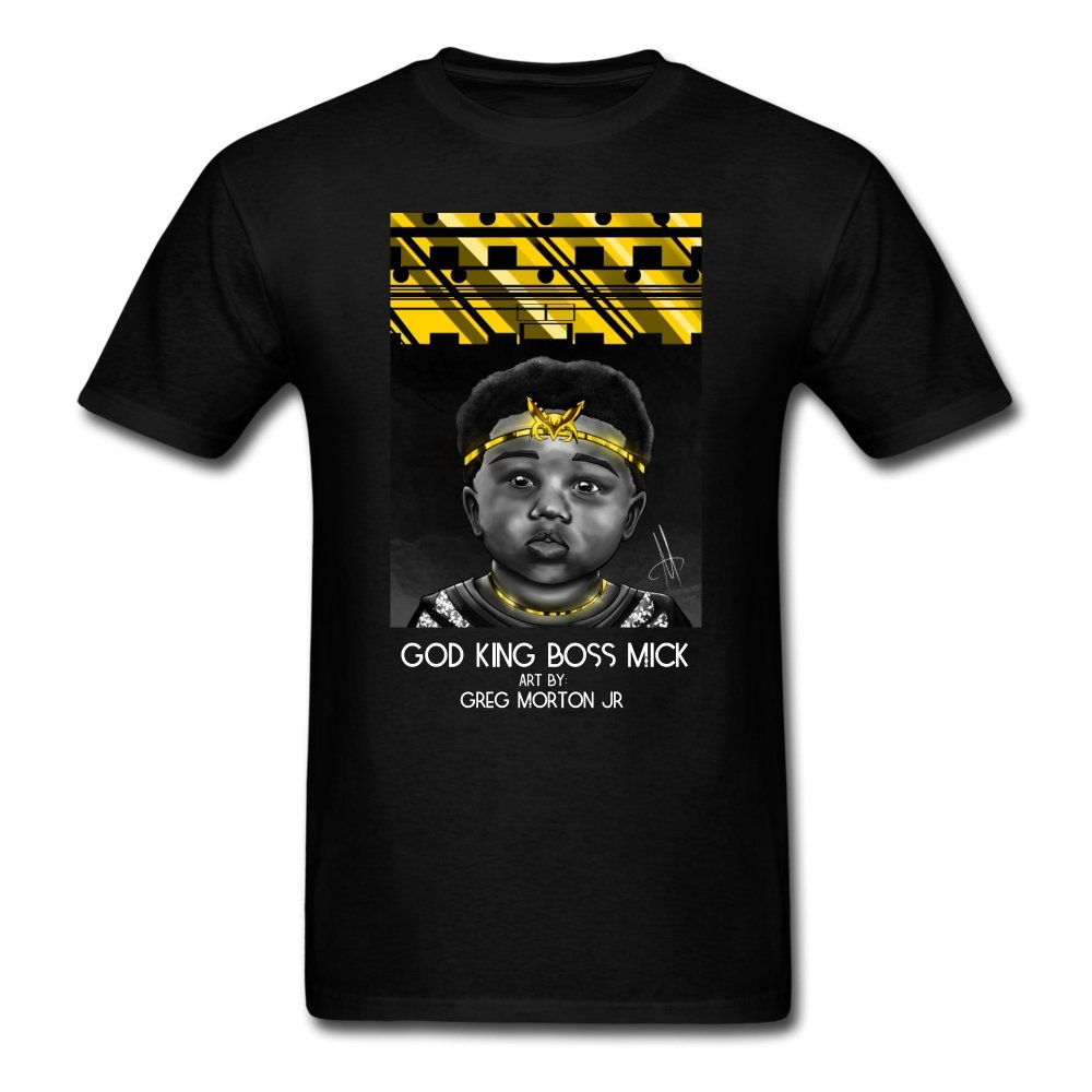 God King Boss Mick By: Greg Morton Jr - Men's T-Shirt - Neter Gold - NTRGLD - NETER GOLD - All natural body care products designed to increase your natural godly glow. - hair growth - eczema - dry skin