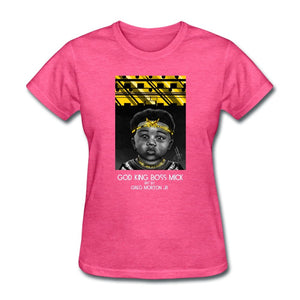 Women's T-Shirt God King Boss Mick By: Greg Morton Jr - Women's T-Shirt - Neter Gold heather pink / S