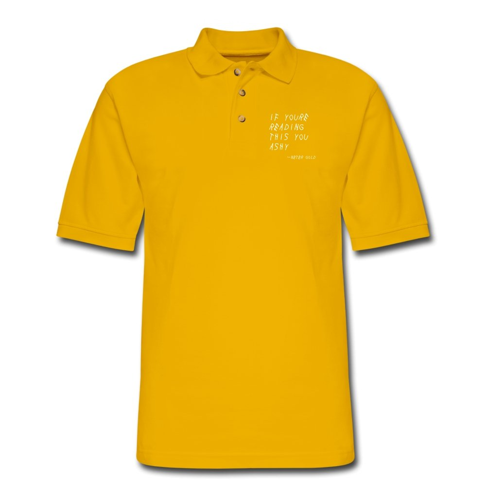 Men's Pique Polo Shirt | Harriton M200 If You're Reading This You Ashy - Men's Pique Polo Shirt - Neter Gold Yellow / S
