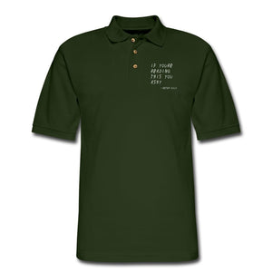 Men's Pique Polo Shirt | Harriton M200 If You're Reading This You Ashy - Men's Pique Polo Shirt - Neter Gold forest green / S