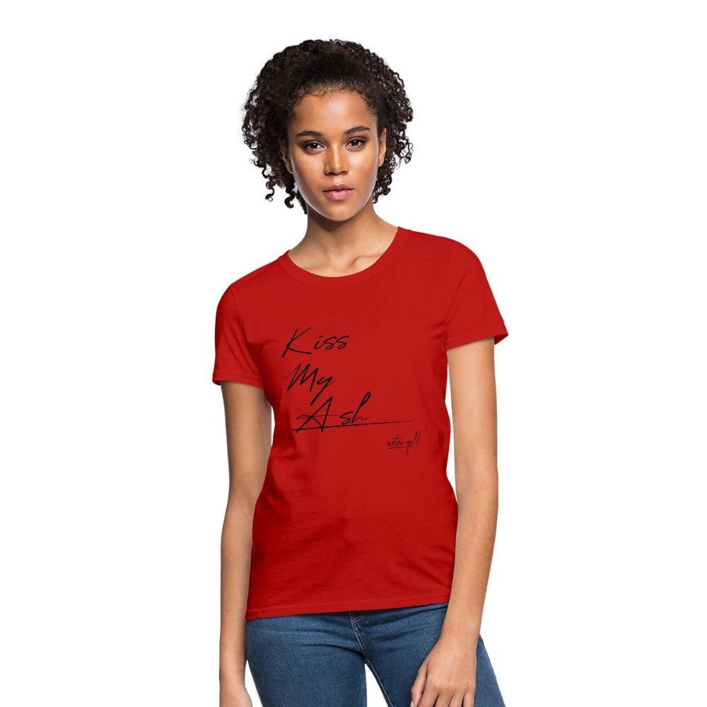 Women's T-Shirt Kiss My Ash - Women's T-Shirt - Neter Gold red / S