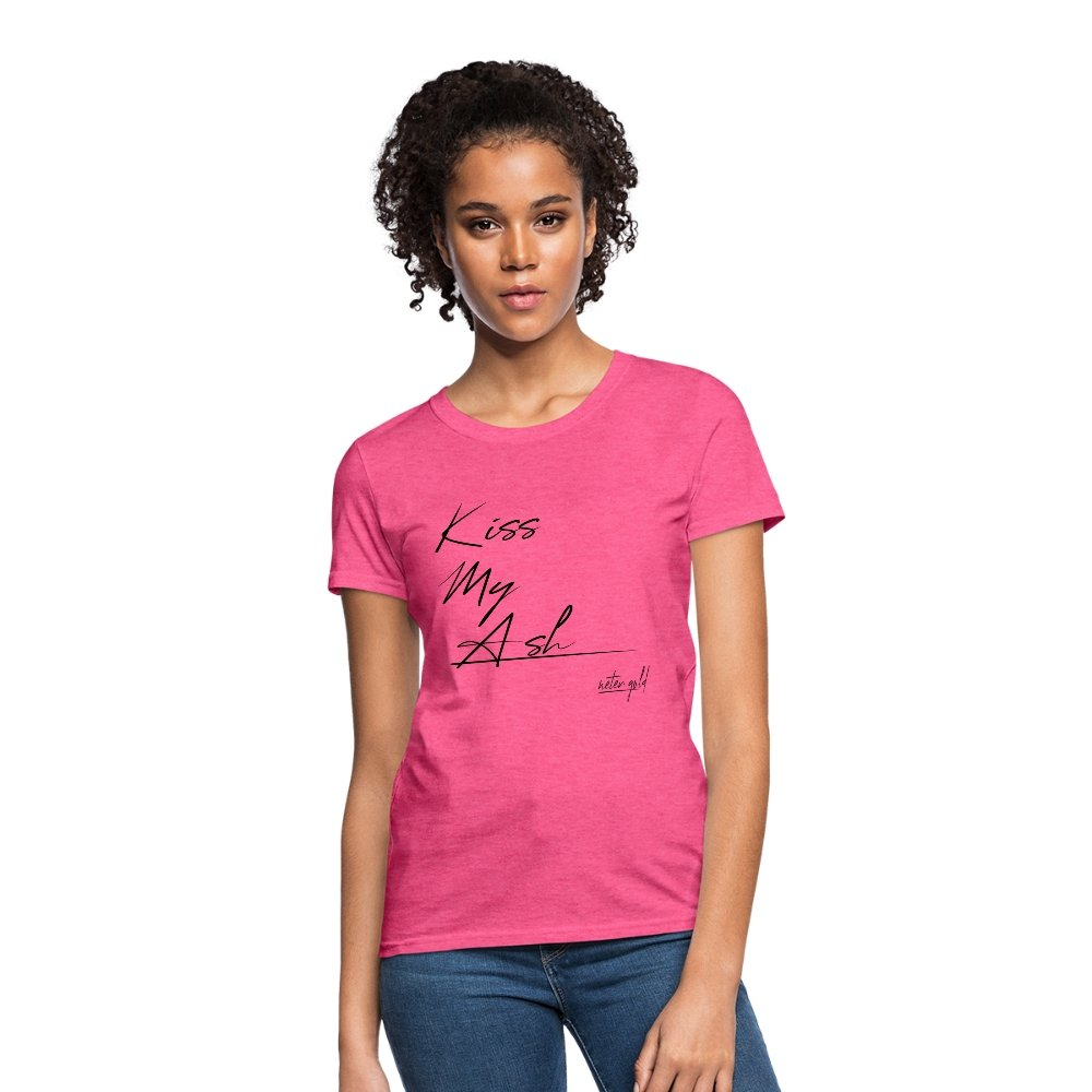 Women's T-Shirt Kiss My Ash - Women's T-Shirt - Neter Gold heather pink / S