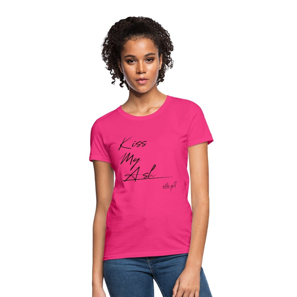 Women's T-Shirt Kiss My Ash - Women's T-Shirt - Neter Gold fuchsia / S