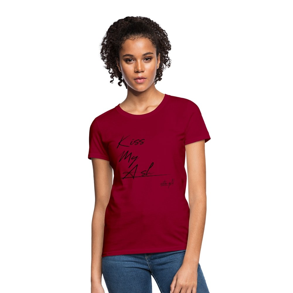 Women's T-Shirt Kiss My Ash - Women's T-Shirt - Neter Gold dark red / S