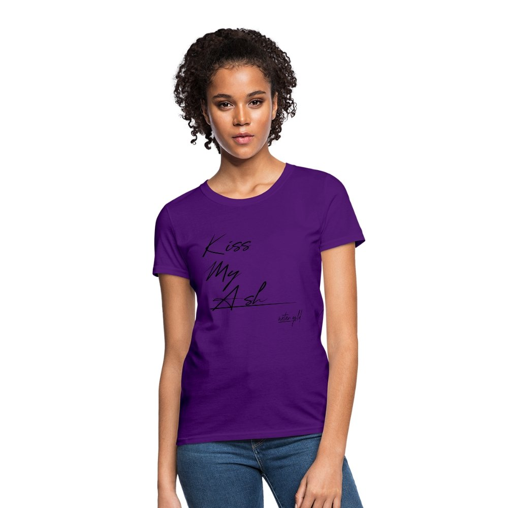 Women's T-Shirt Kiss My Ash - Women's T-Shirt - Neter Gold purple / S