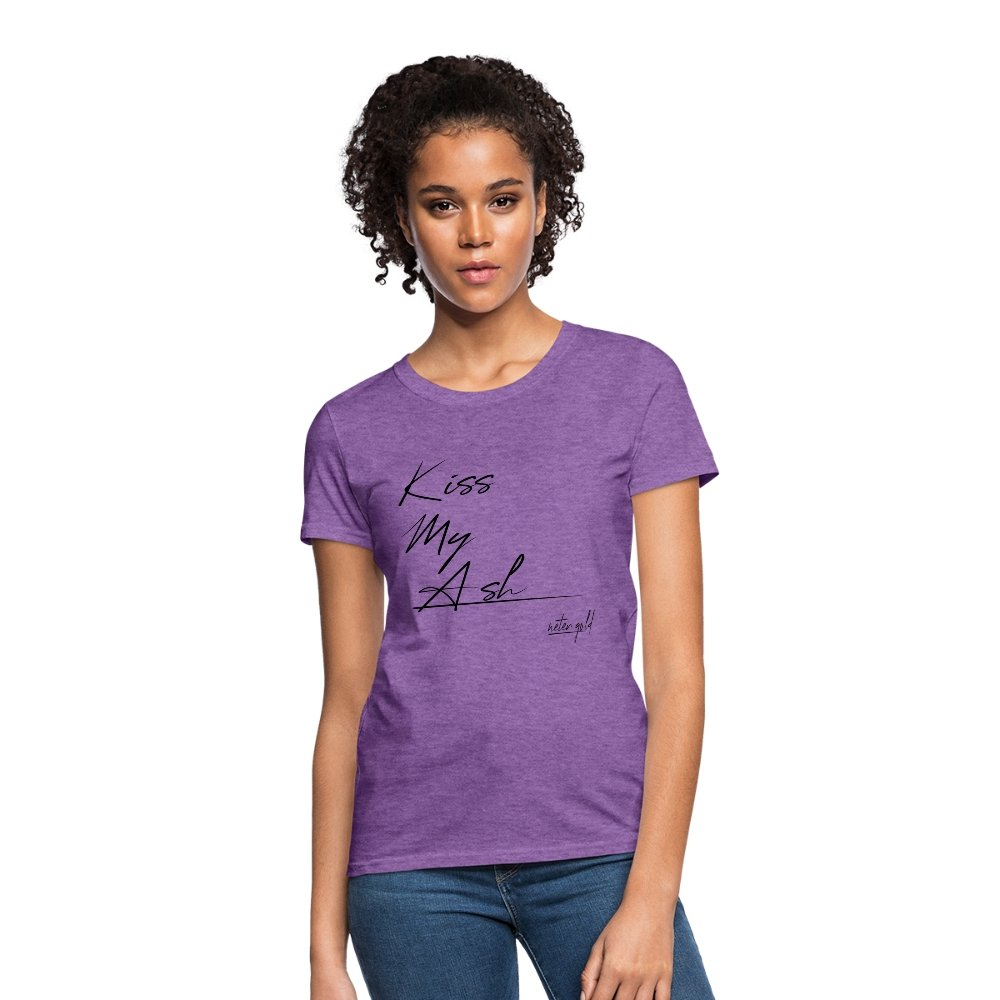Women's T-Shirt Kiss My Ash - Women's T-Shirt - Neter Gold purple heather / S