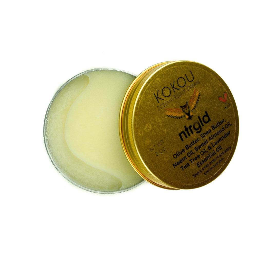 Kokou - Eczema Relief Cream - Neter Gold - NTRGLD - NETER GOLD - All natural body care products designed to increase your natural godly glow. - hair growth - eczema - dry skin