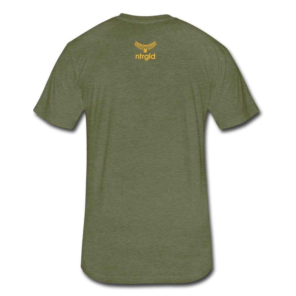 Fitted Cotton/Poly T-Shirt by Next Level Lord Of The Drip - Fitted Cotton/Poly T-Shirt - Neter Gold