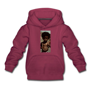 Kids' Premium Hoodie Lord Of The Drip - Kids' Premium Hoodie - Neter Gold burgundy / Youth S