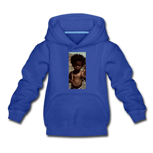 Kids' Premium Hoodie Lord Of The Drip - Kids' Premium Hoodie - Neter Gold royal blue / Youth S
