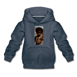 Kids' Premium Hoodie Lord Of The Drip - Kids' Premium Hoodie - Neter Gold heather denim / Youth S