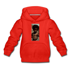 Kids' Premium Hoodie Lord Of The Drip - Kids' Premium Hoodie - Neter Gold red / Youth S