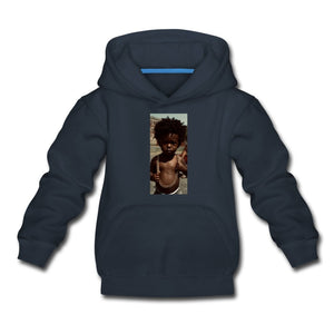 Kids' Premium Hoodie Lord Of The Drip - Kids' Premium Hoodie - Neter Gold navy / Youth S