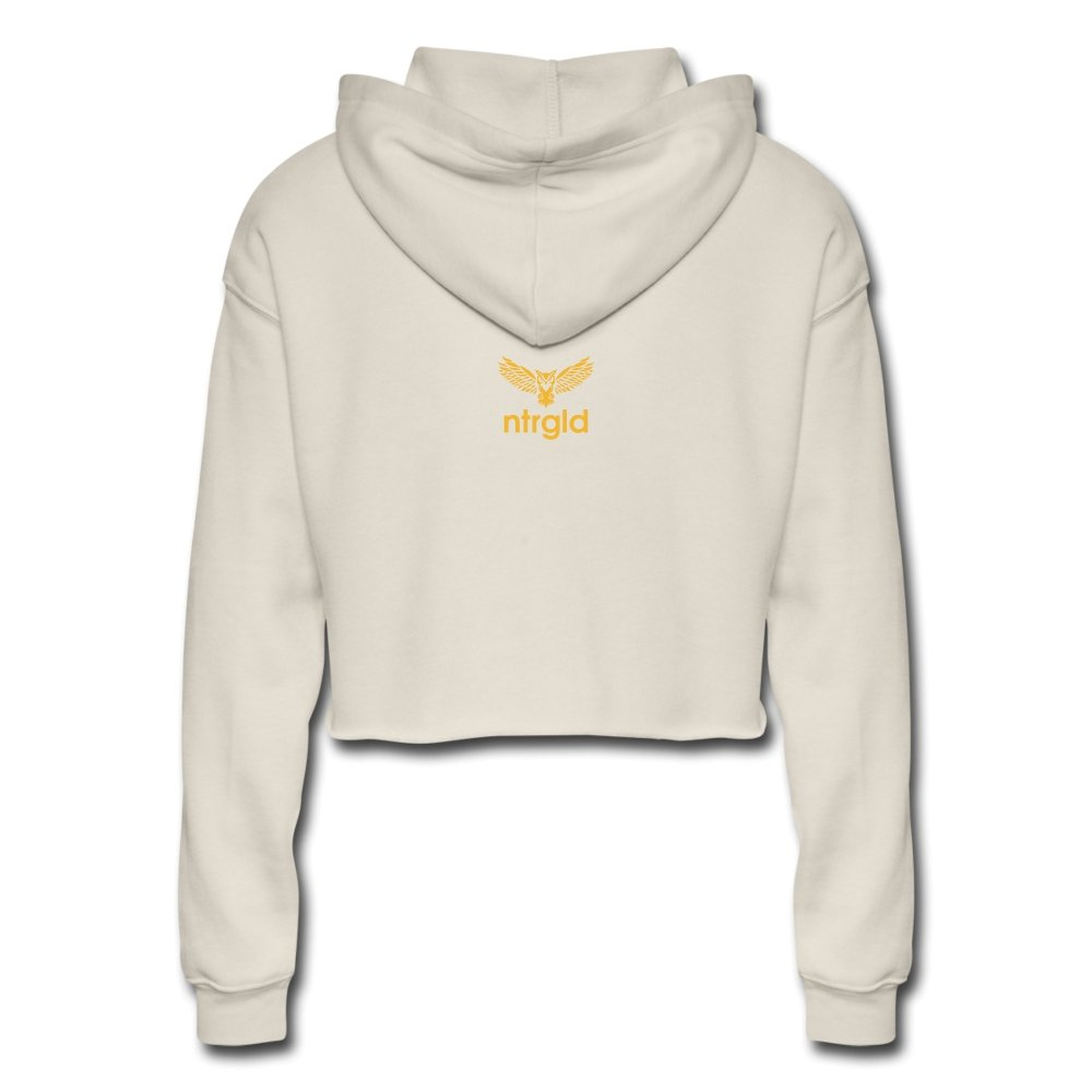Lord Of The Drip - Women's Cropped Hoodie - Neter Gold - NTRGLD - NETER GOLD - All natural body care products designed to increase your natural godly glow. - hair growth - eczema - dry skin