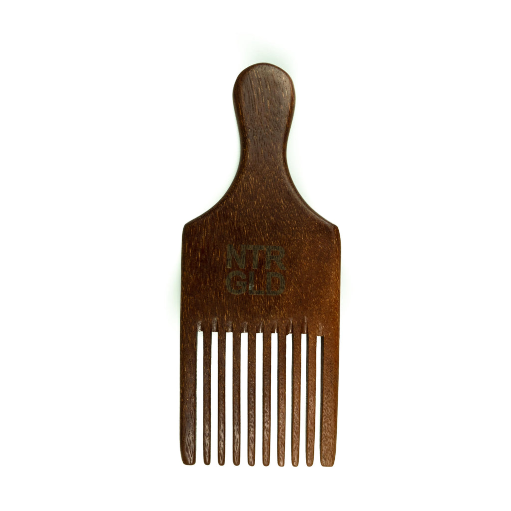 Mini Afro Power Pick Comb - Neter Gold - NTRGLD