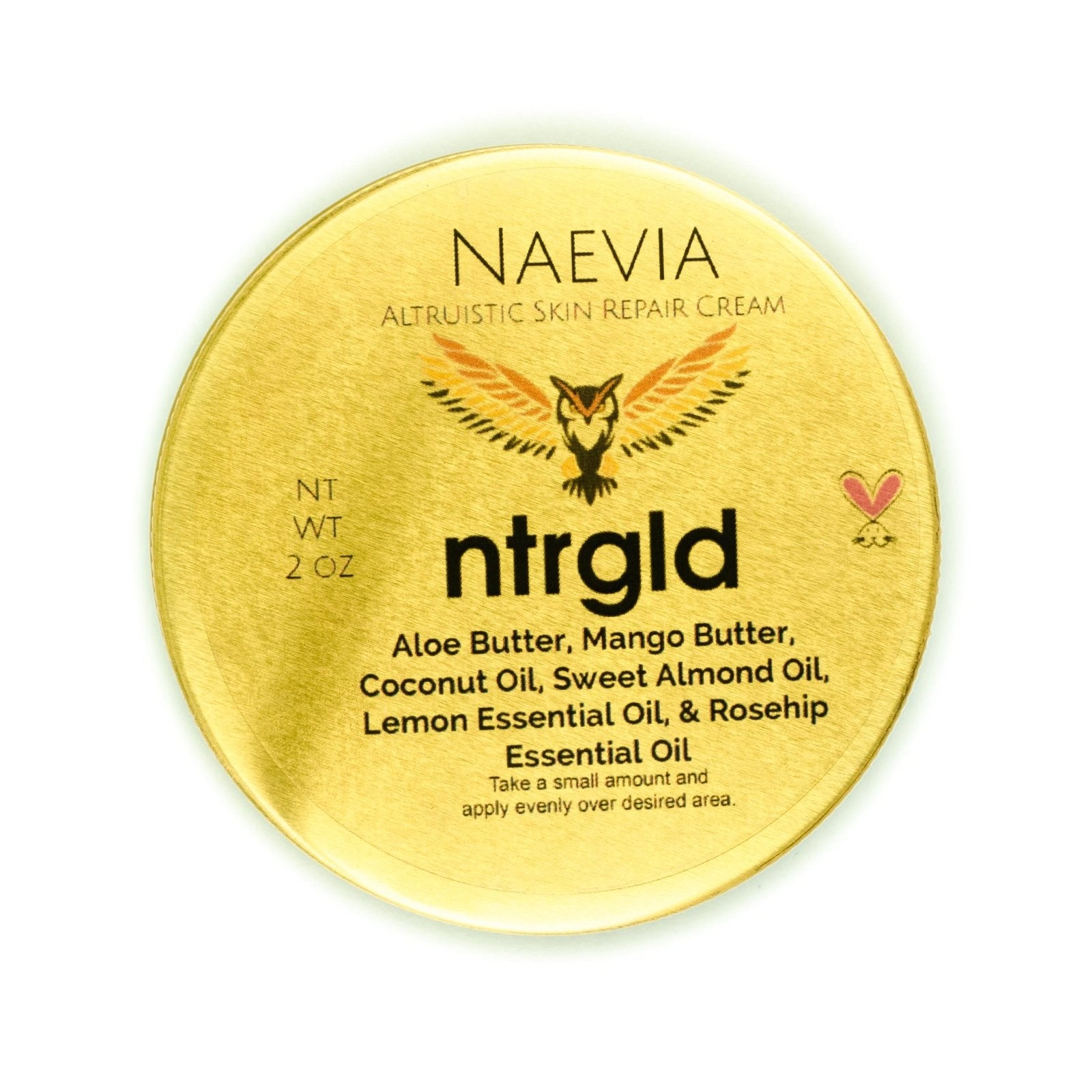 Naevia - Skin Repair Cream - Neter Gold - NTRGLD - NETER GOLD - All natural body care products designed to increase your natural godly glow. - hair growth - eczema - dry skin