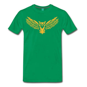 Men's Premium T-Shirt NEBU OWL LOGO TEE - Men's - Neter Gold kelly green / M